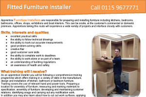 Fitted Furniture Installer
