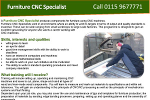 Furniture CNC Specialist