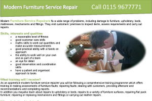 Modern Furniture Service Repair