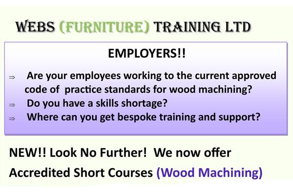 Short Course Available in Wood Machining
